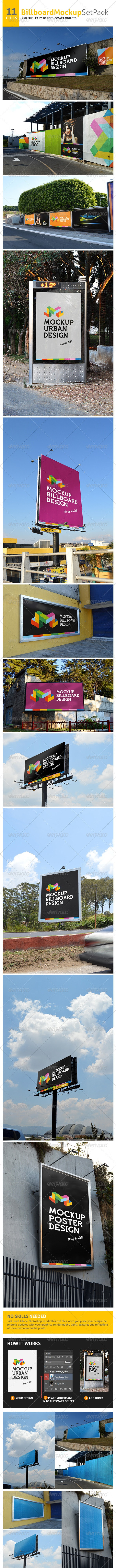 Professional Billboard MockUp  - Product Mock-Ups Graphics