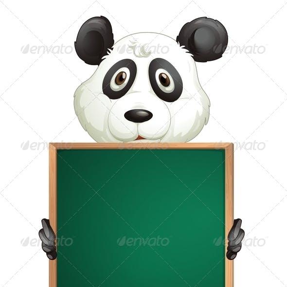Panda with Empty Blackboard