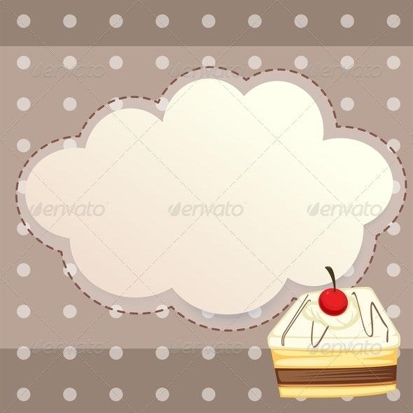 Stationery with Dessert - Borders Decorative