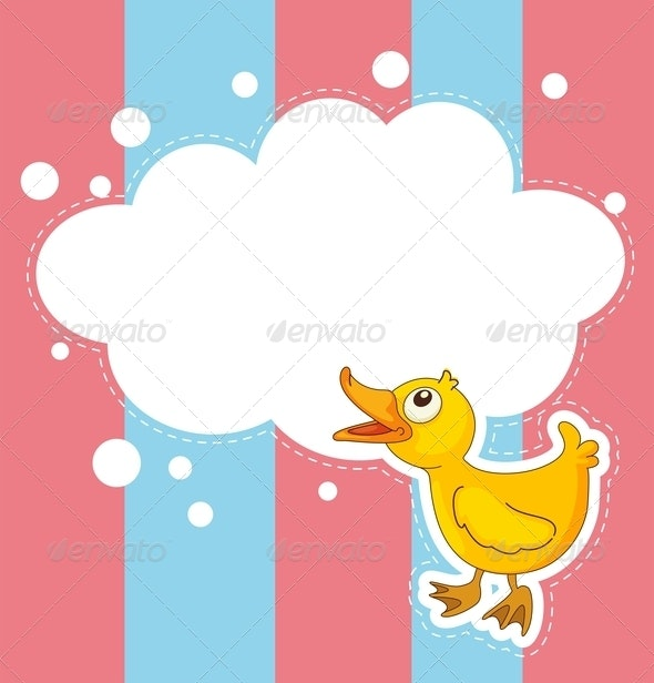 Stationery With Duckling - Borders Decorative