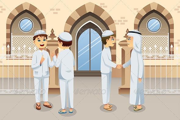 People Celebrating Eid-Al-fitr - Religion Conceptual