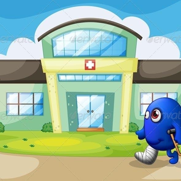Injured Monster Outside the Hospital