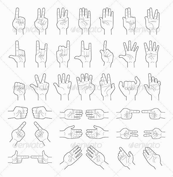 Collage of Hands - Miscellaneous Vectors