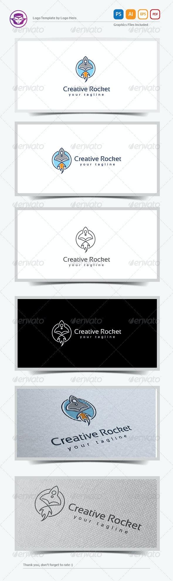Creative Rocket Logo Template - Objects Logo Templates
