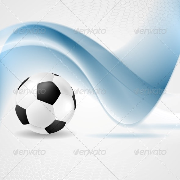 Abstract Waves and Football - Sports/Activity Conceptual