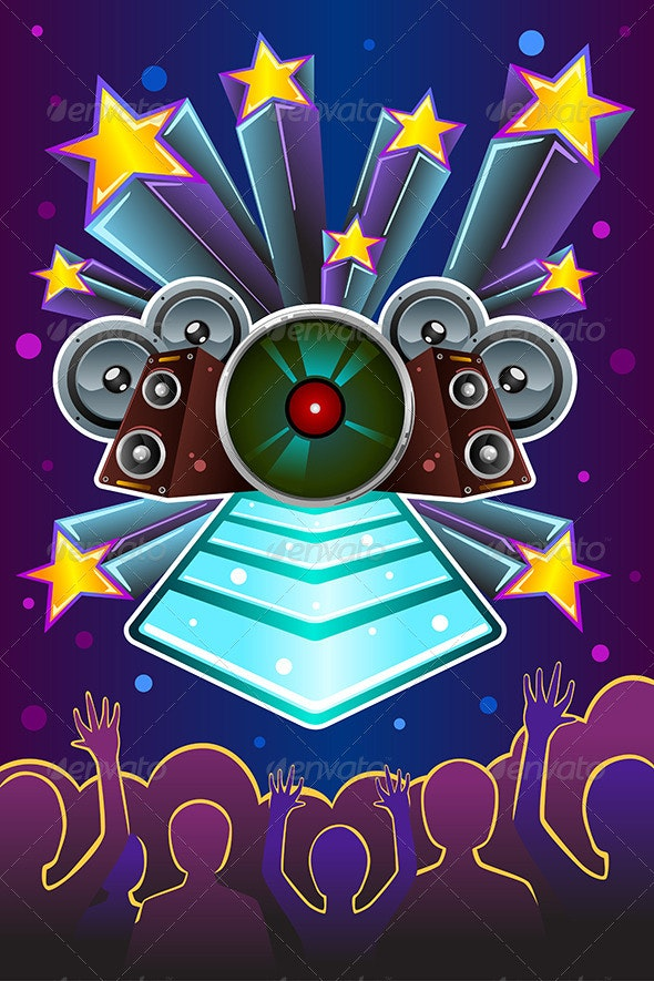 Disco Night Flyers - Backgrounds Decorative