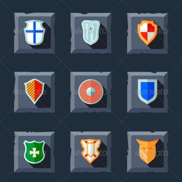 Shield Icon Flat - Web Technology