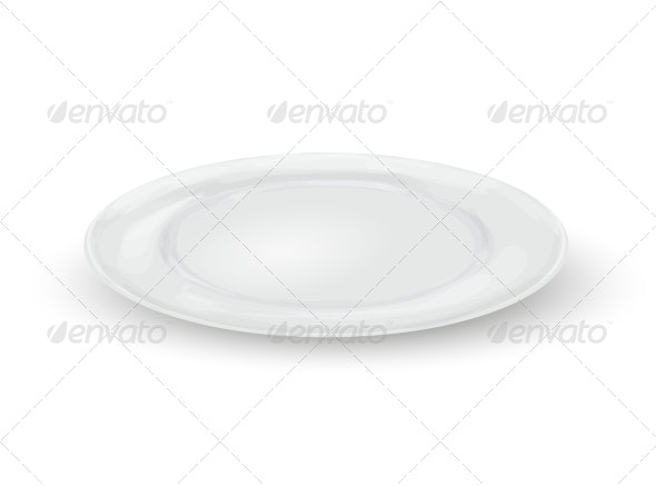 Empty Dinner Plate - Man-made Objects Objects