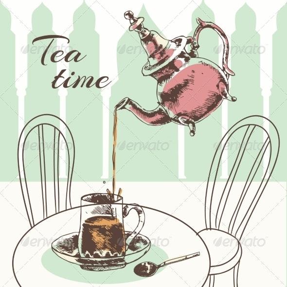 Tea Time - Food Objects