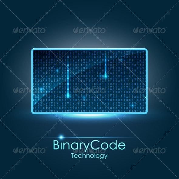 Binary Background - Backgrounds Decorative