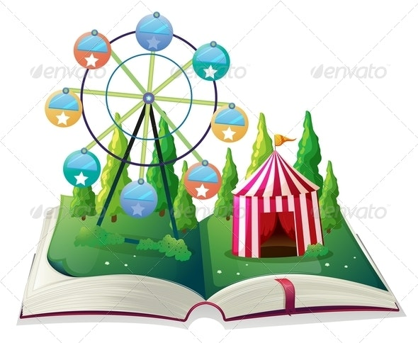 A Storybook with a Carnival - Buildings Objects