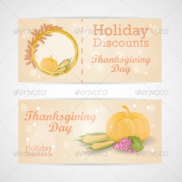 Happy Thanksgiving Day Sale Card By Mvladimir Graphicriver
