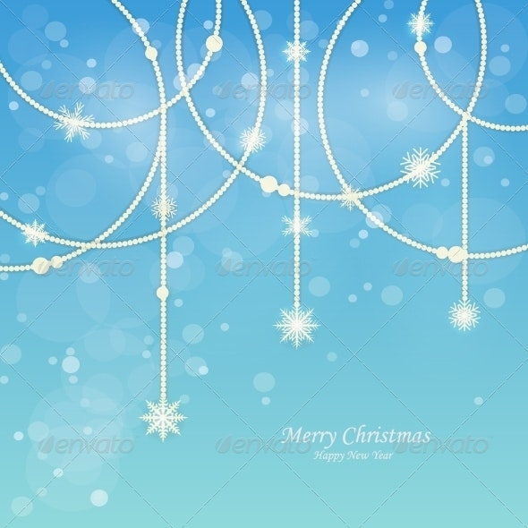 Bright Snow Blue Background - Christmas Seasons/Holidays