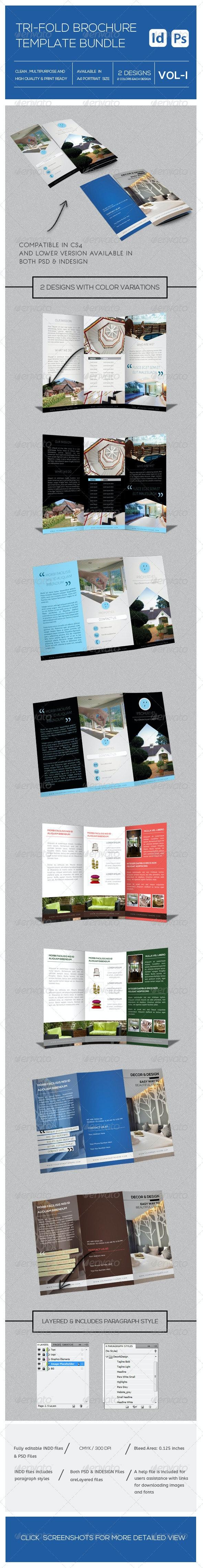 Tri Fold Brochure Bundle - Brochures Print Templates