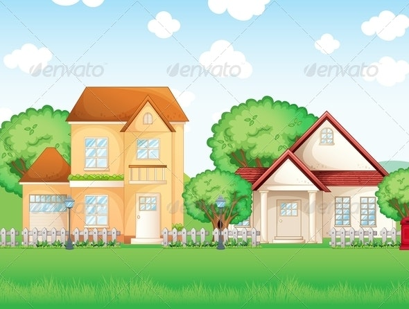 Two Big Houses - Buildings Objects