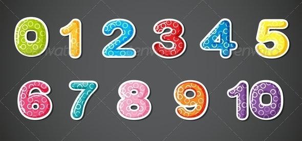 Eleven Numerical Figures - Miscellaneous Vectors