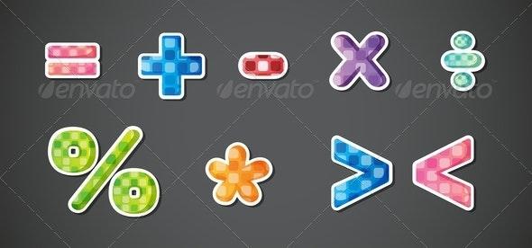 Mathematical Symbols  - Miscellaneous Vectors