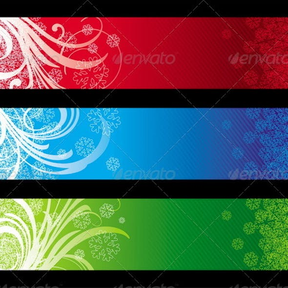 Vector Christmas Decorative Banners