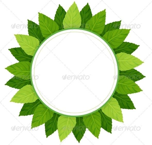 Leaves Round Frame - Borders Decorative