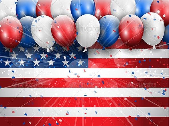 Independence Day Celebration Background - Seasons/Holidays Conceptual