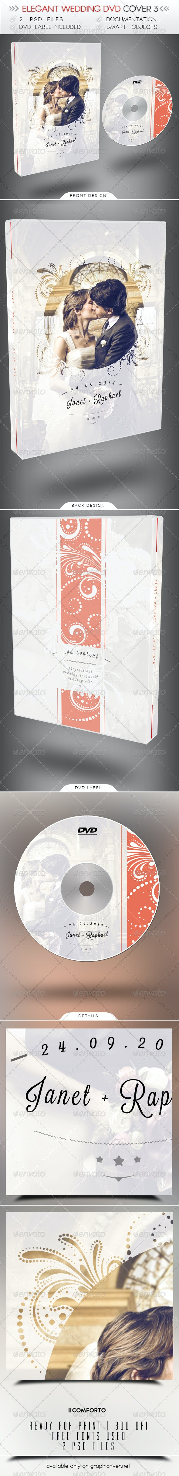Elegant Wedding DVD Cover 3 - CD & DVD Artwork Print Templates