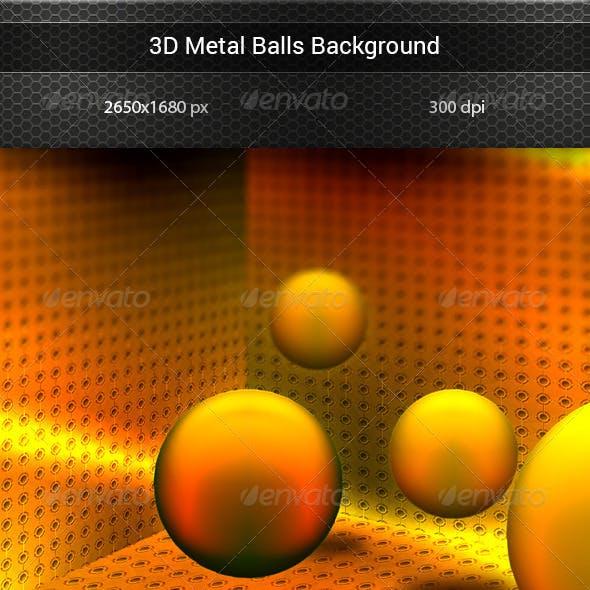 3D Metal Spheres Background