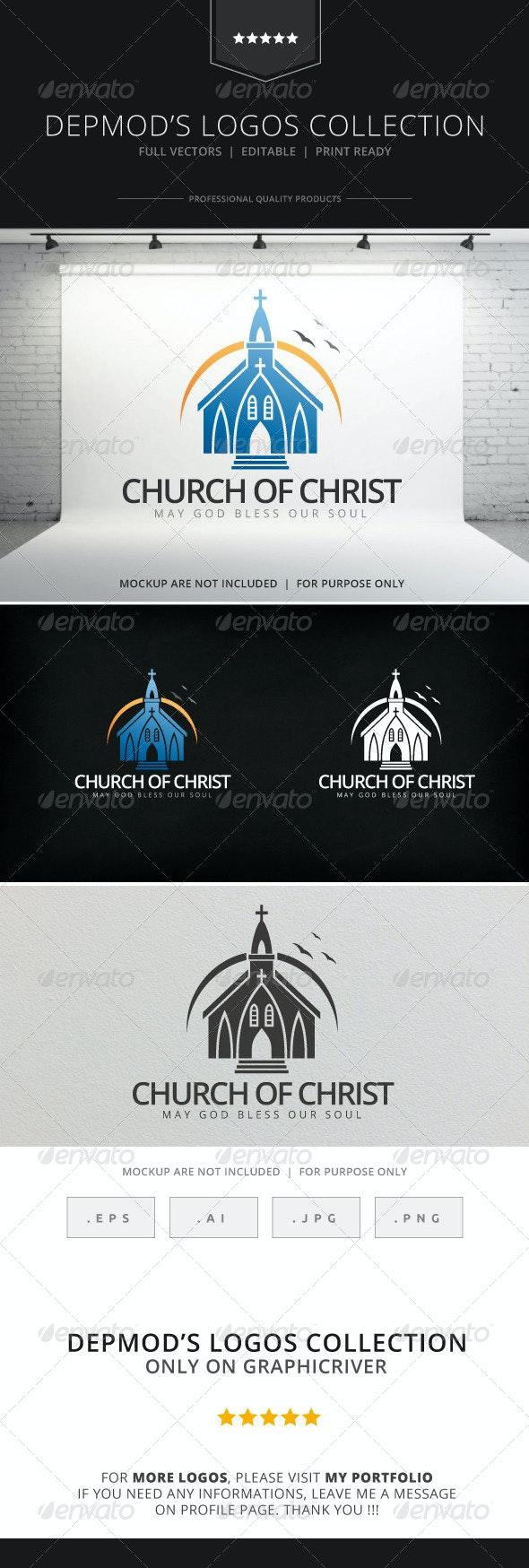 Church Of Christ Logo - Buildings Logo Templates
