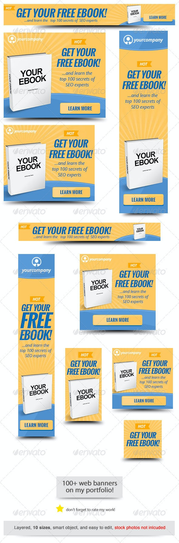 Ebook Web Banner Template 2 - Banners & Ads Web Elements