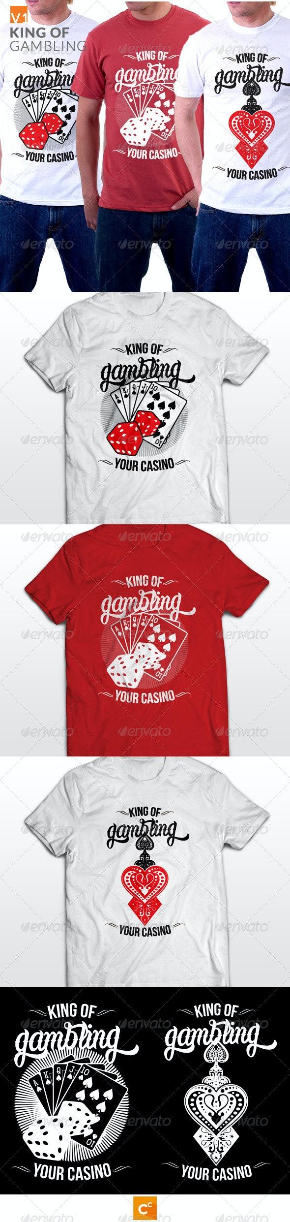 King of Gambling T-shirt - T-Shirts