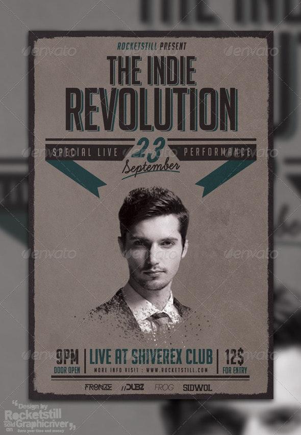 Indie Revolution - Fleyer Template - Concerts Events
