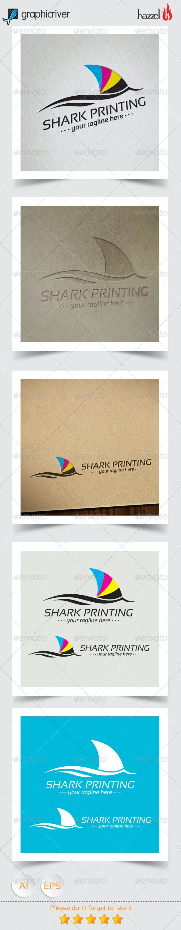 Shark Printing Logo - Animals Logo Templates