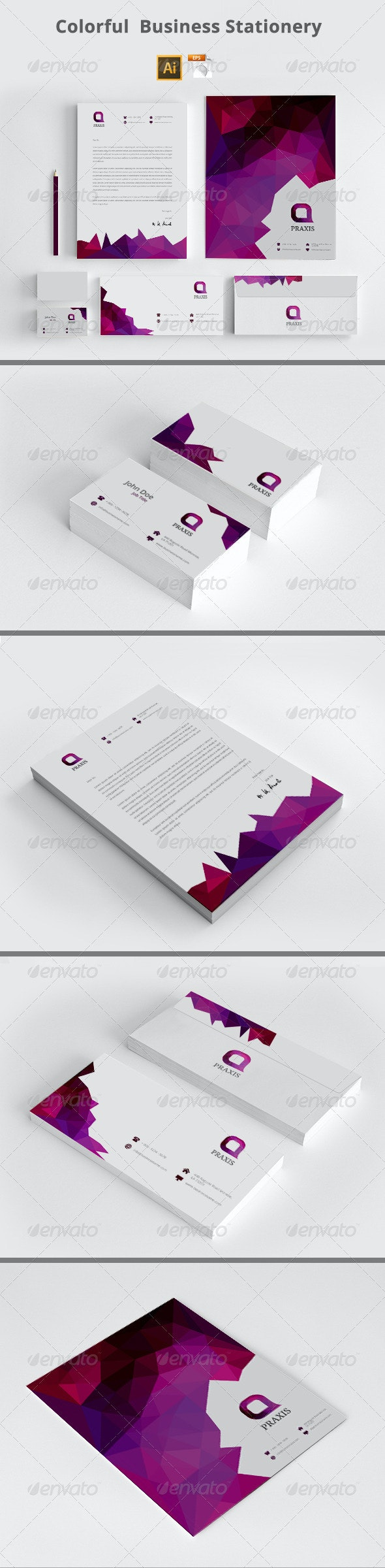 Colorful Business Stationery - Stationery Print Templates