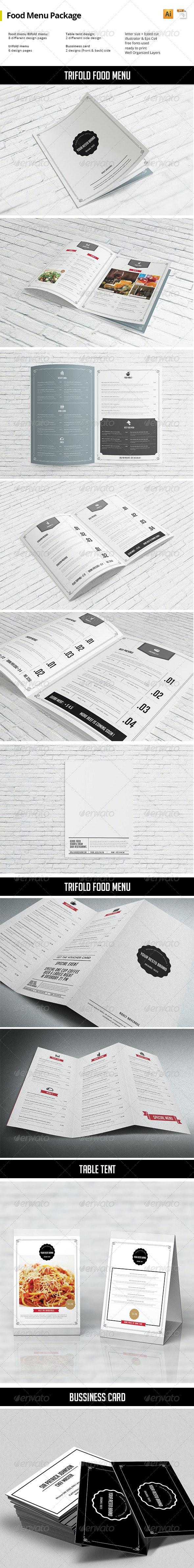 Food Menu Package - Print Templates