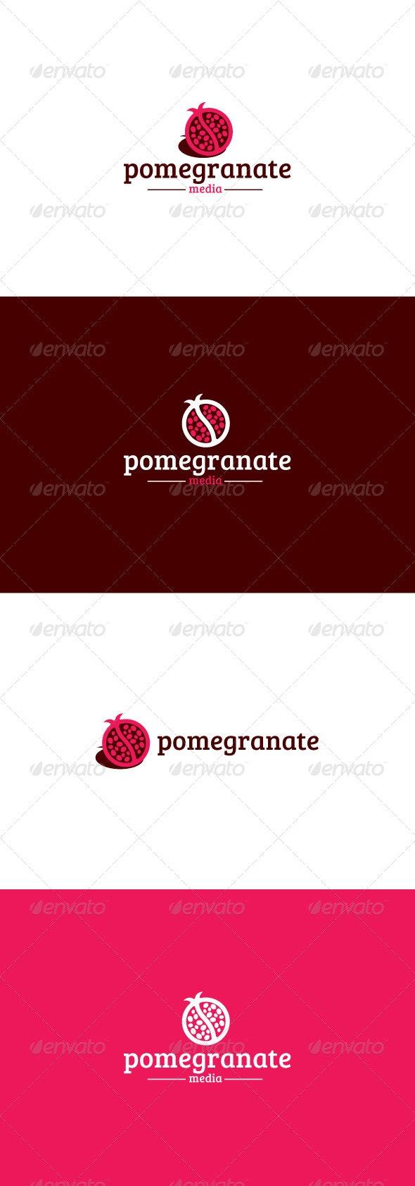 Pomegranate Logo - Food Logo Templates
