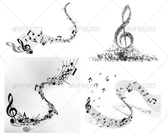 Musical Note Compositions - Miscellaneous Vectors