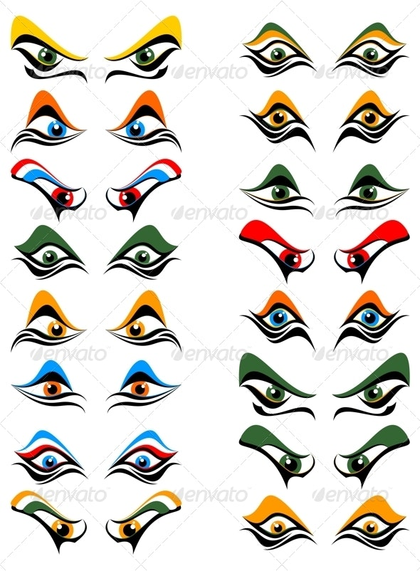 Abstract Eye - Monsters Characters
