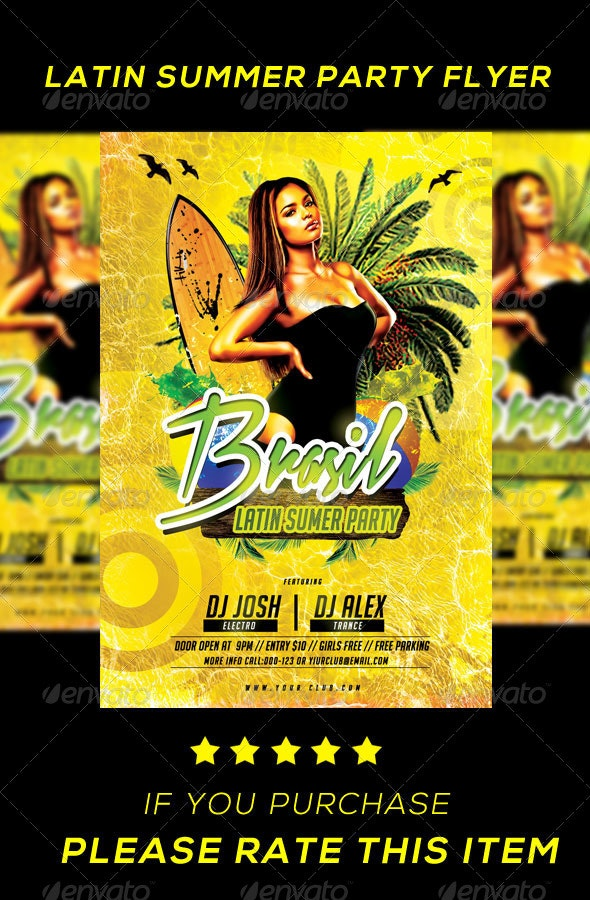 LATIN SUMMER PARTY FLYER - Print Templates