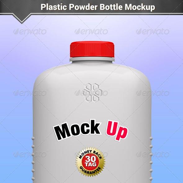 Plastic Powder Bottle Mockup