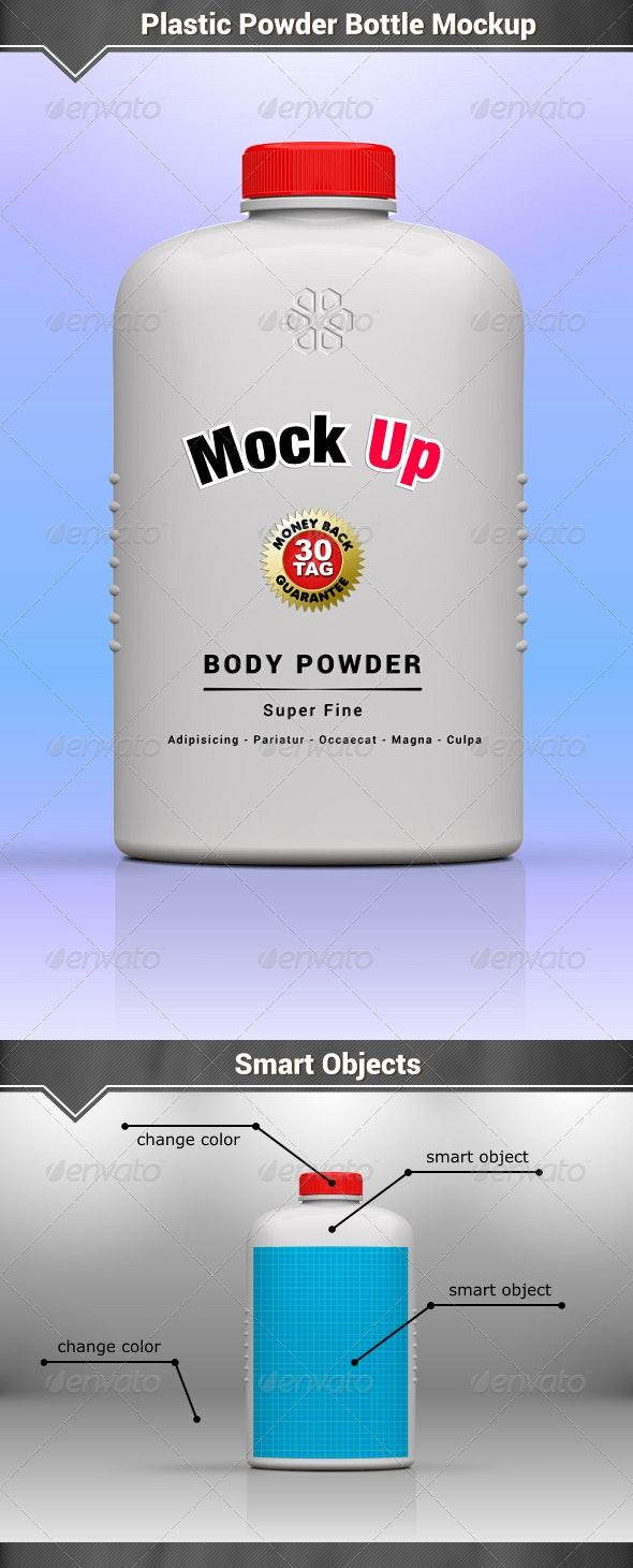 Plastic Powder Bottle Mockup - Packaging Product Mock-Ups