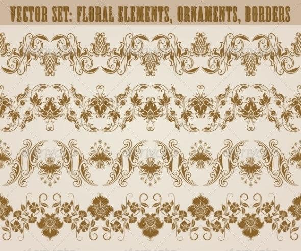 Horizontal Decoration Vector - Patterns Decorative