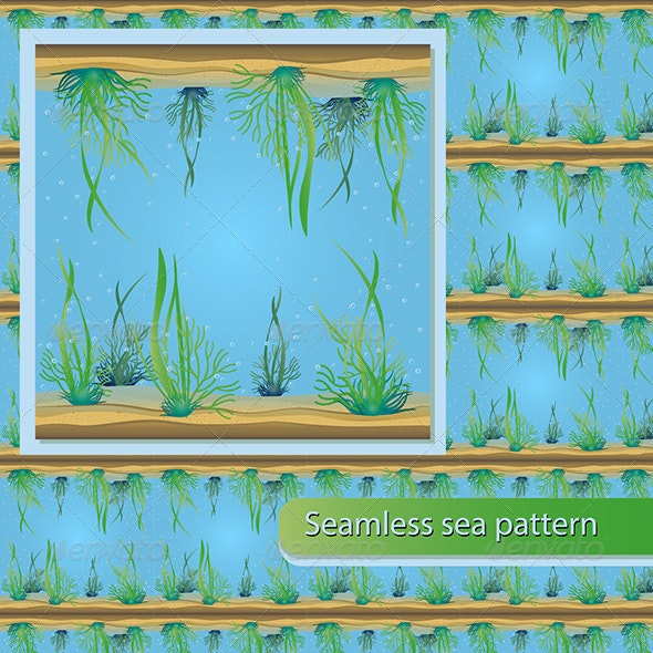 Seamless Sea Pattern - Patterns Decorative