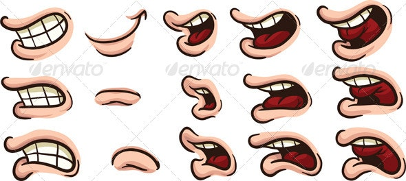Cartoon Mouths - Miscellaneous Characters