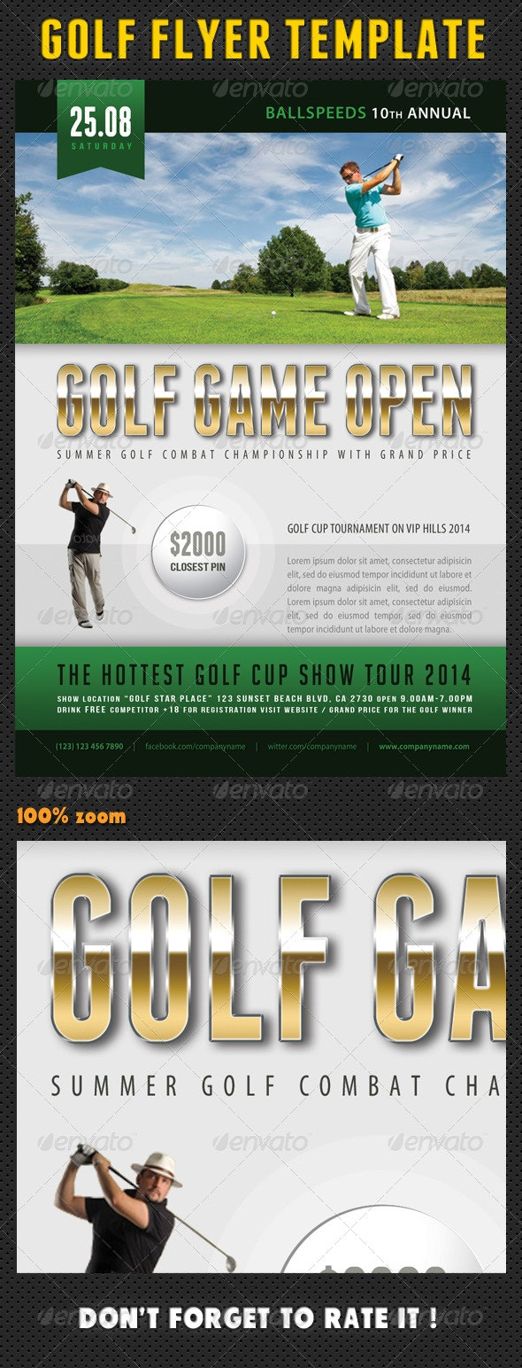 Golf Flyer Template 03 - Sports Events