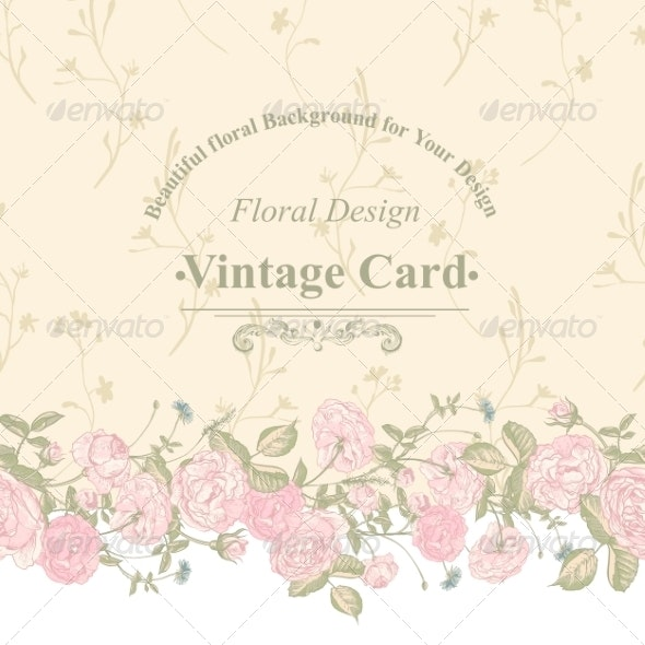 Seamless Border of Blossom Roses.  - Patterns Decorative