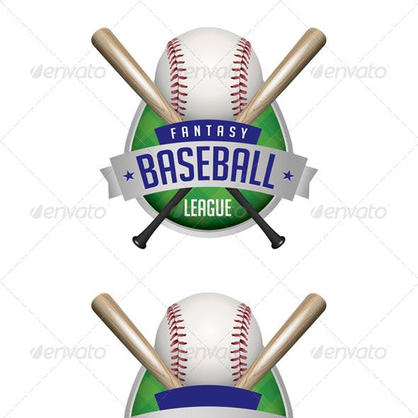 Vector Baseball Emblems Illustration