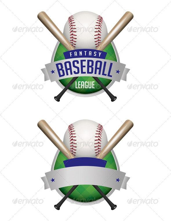 Vector Baseball Emblems Illustration - Sports/Activity Conceptual