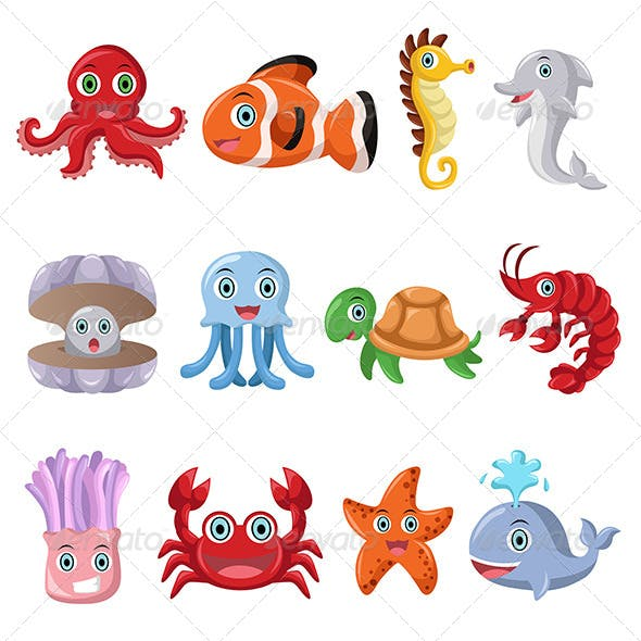 Marine Animal Icons