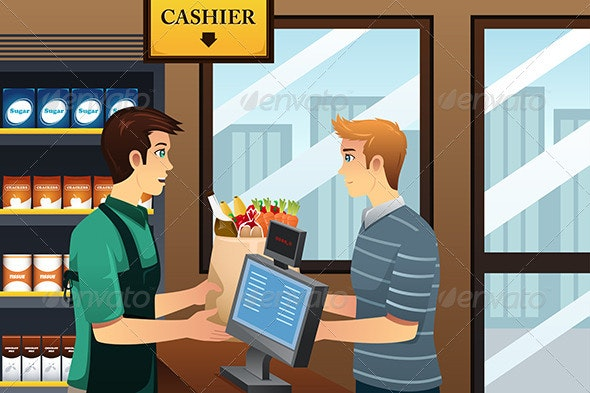 Man Shopping at the Grocery - Commercial / Shopping Conceptual
