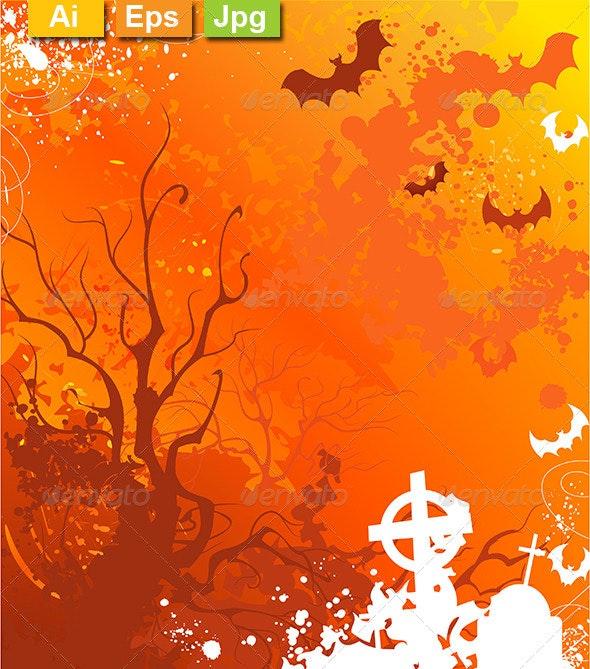 Orange Background on Halloween - Halloween Seasons/Holidays