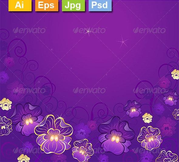 Luxurious Violet - Backgrounds Decorative